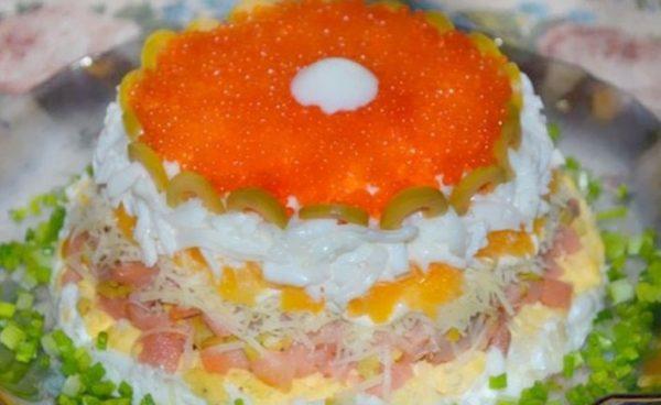 Салат с красной икр
