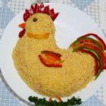 Новогодний салат Петушок
